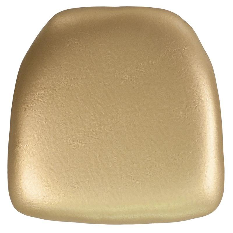 Flash Furniture BH-GOLD-HARD-VYL-GG Hard Gold Vinyl Chiavari Chair Cushion