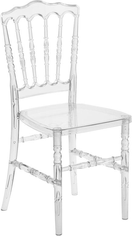 Flash Furniture BH-H002-CRYSTAL-GG Flash Elegance Crystal Ice Napoleon Stacking Chair