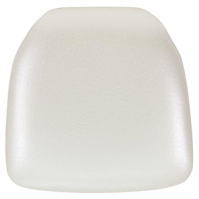 Flash Furniture BH-IVORY-HARD-VYL-GG Hard Ivory Vinyl Chiavari Chair Cushion