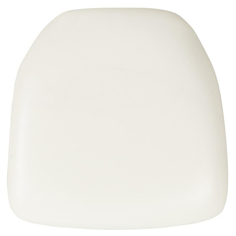 Flash Furniture BH-WH-HARD-VYL-GG Hard White Vinyl Chiavari Chair Cushion