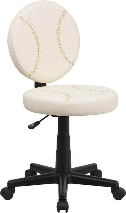 Flash Furniture BT-6179-BASE-GG Baseball Swivel Task Chair