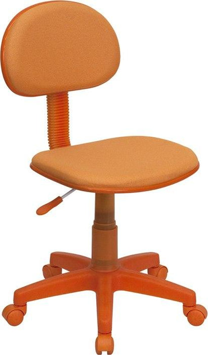 Flash Furniture BT-698-ORANGE-GG Orange Fabric Swivel Task Chair