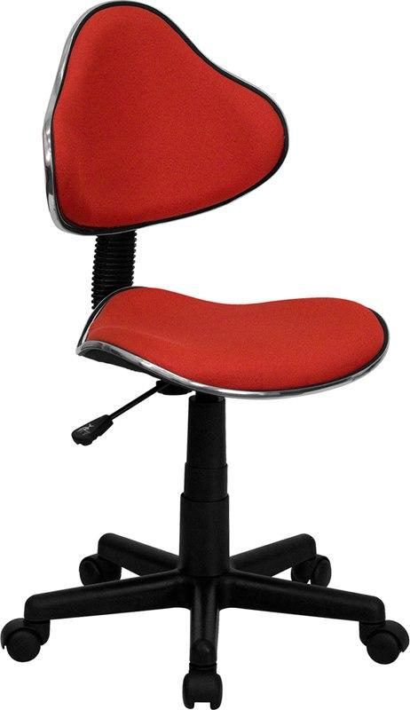 Flash Furniture BT-699-RED-GG Red Fabric Ergonomic Swivel Task Chair