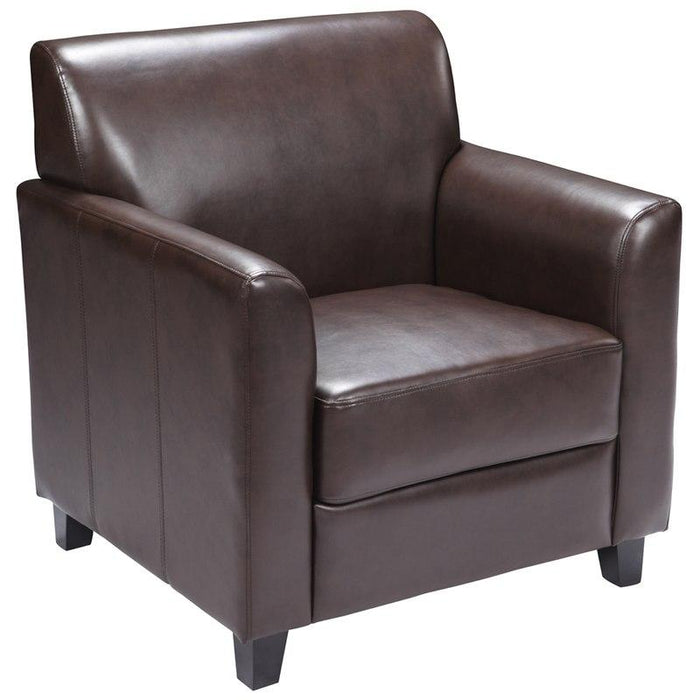 Flash Furniture BT-827-1-BN-GG HERCULES Diplomat Series Brown Leather Chair