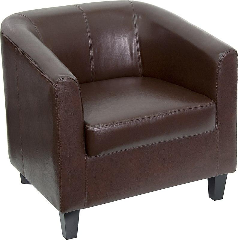 Flash Furniture BT-873-BN-GG Brown Leather Lounge Chair