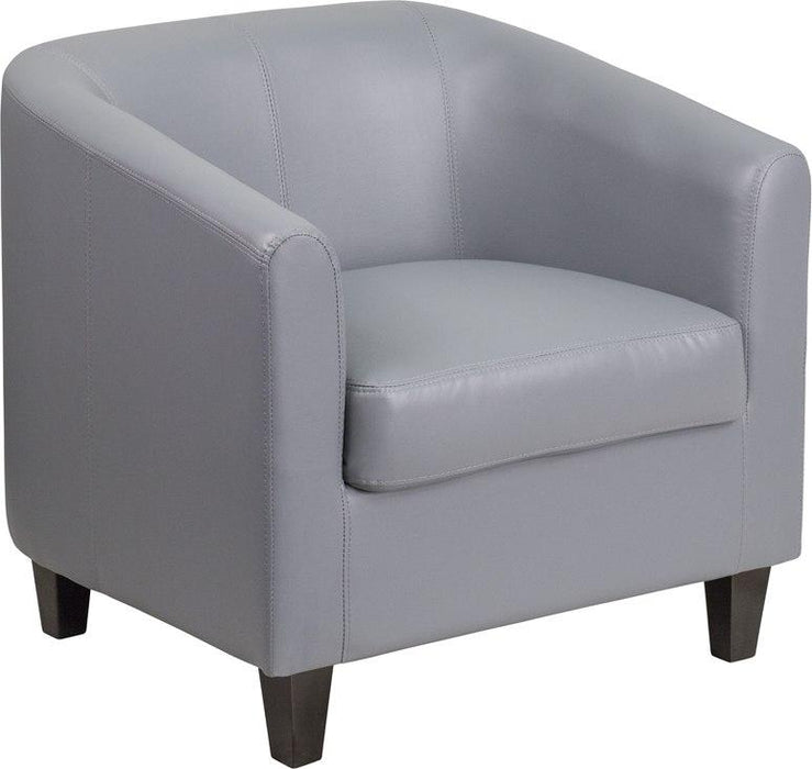 Flash Furniture BT-873-GY-GG Gray Leather Lounge Chair