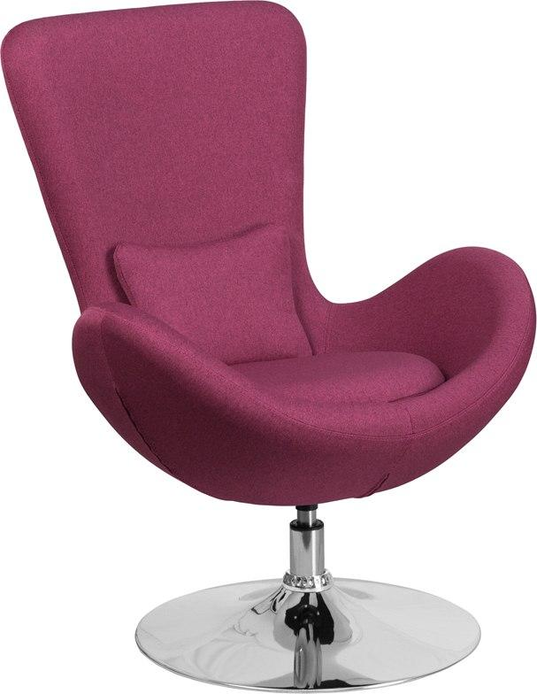 Flash Furniture CH-162430-MAG-FAB-GG Egg Series Magenta Fabric Side Reception Chair
