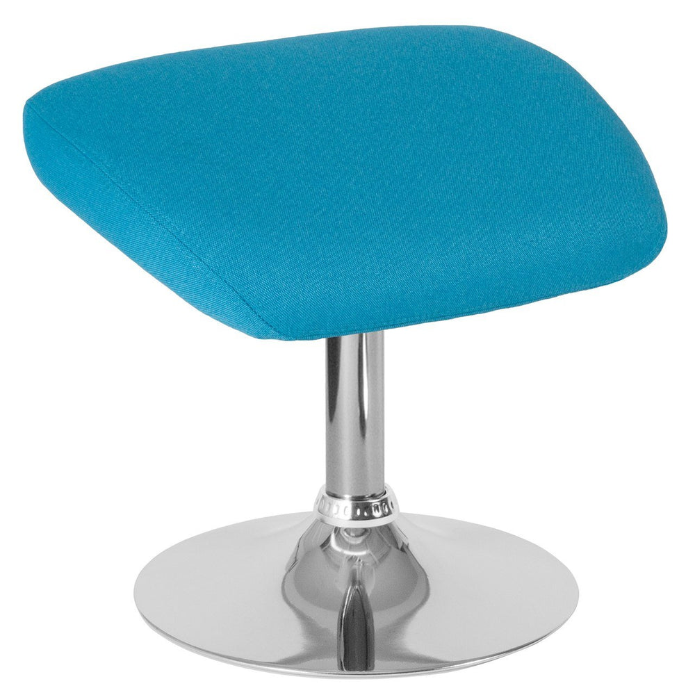 Flash Furniture CH-162430-O-AQ-FAB-GG Egg Series Aqua Fabric Ottoman