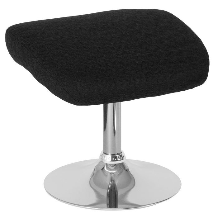 Flash Furniture CH-162430-O-BK-FAB-GG Egg Series Black Fabric Ottoman