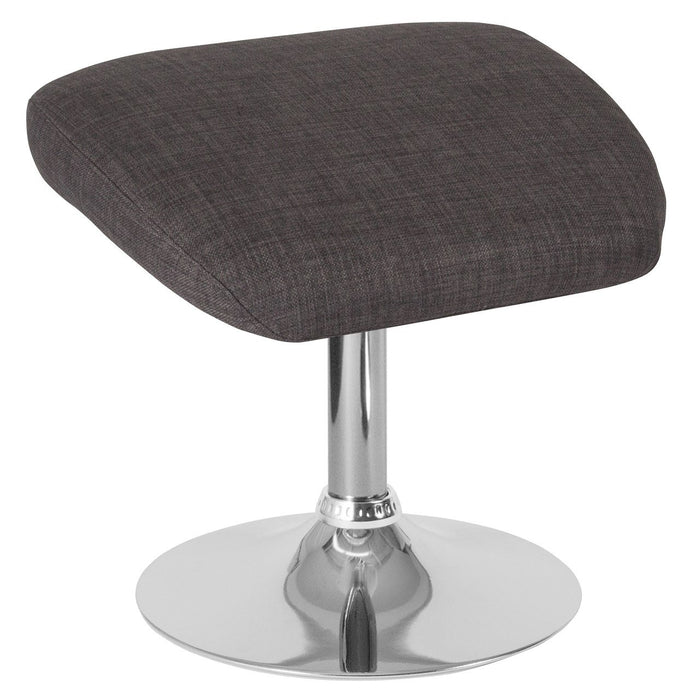 Flash Furniture CH-162430-O-DKGY-FAB-GG Egg Series Dark Gray Fabric Ottoman