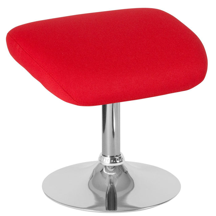 Flash Furniture CH-162430-O-RED-FAB-GG Egg Series Red Fabric Ottoman