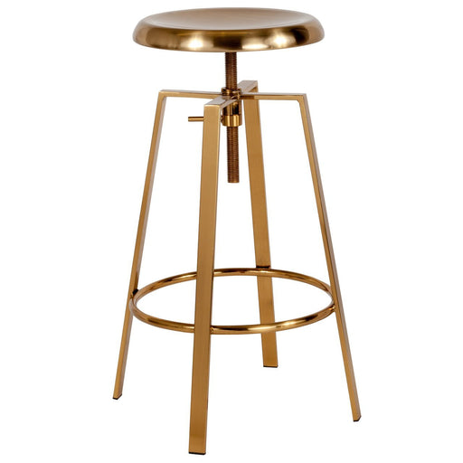 Flash Furniture CH-181070-26S-GLD-GG Toledo Industrial Style Barstool with Swivel Lift Adjustable Height Seat in Gold Finish