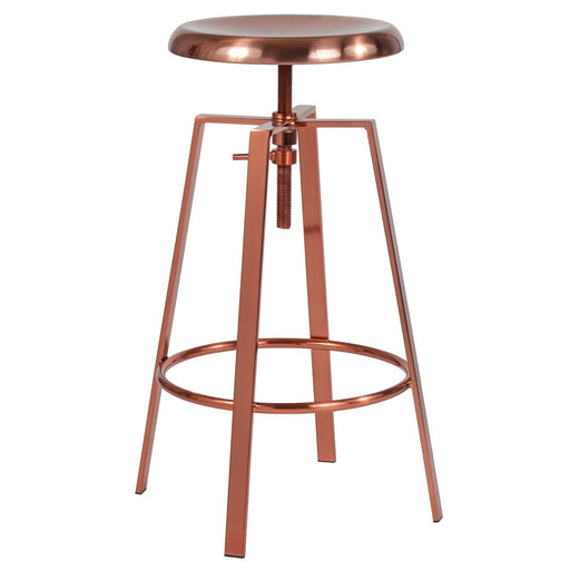 Flash Furniture CH-181070-26S-ROS-GG Toledo Industrial Style Barstool with Swivel Lift Adjustable Height Seat in Rose Gold Finish