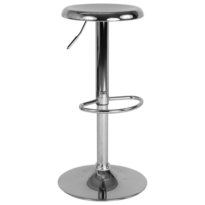 Flash Furniture CH-181220-CH-GG Madrid Series Adjustable Height Retro Barstool in Chrome Finish