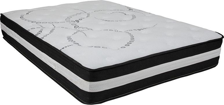 Flash Furniture CL-E230P-R-F-GG Capri Comfortable Sleep 12 Inch Foam and Pocket Spring Mattress, Full in a Box