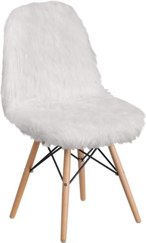 Flash Furniture DL-10-GG Shaggy Dog White Accent Chair