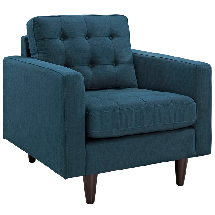 Empress Upholstered Fabric Armchair in Azure by Modway