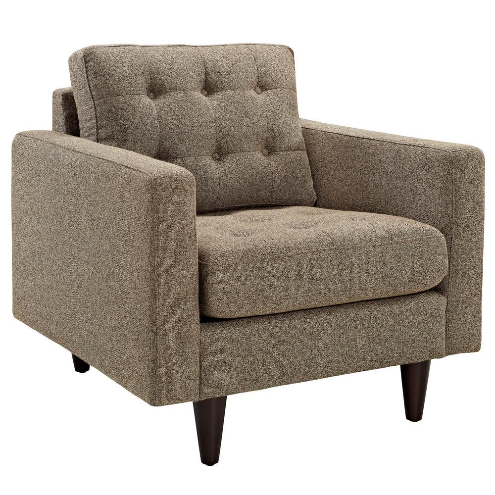 Empress Upholstered Fabric Armchair in Oatmeal by Modway