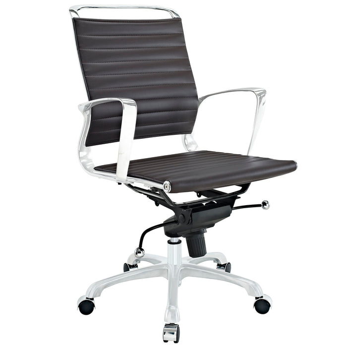 Tempo Mid Back Office Chair in Brown by Modway