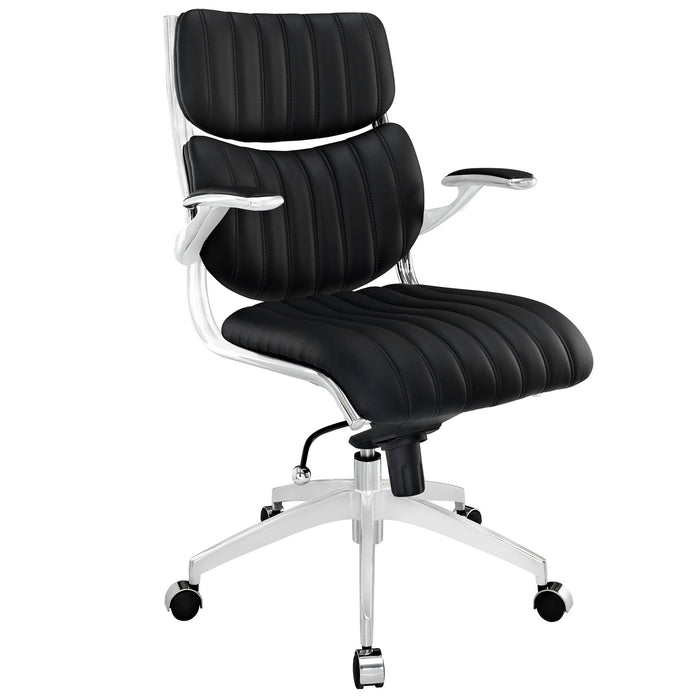 Escape Mid Back Office Chair in Black by Modway