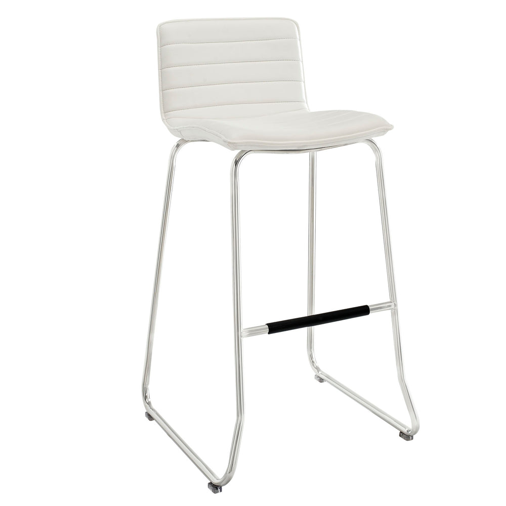 Dive Bar Stool in White by Modway