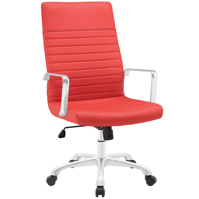 Finesse Highback Office Chair in Red by Modway