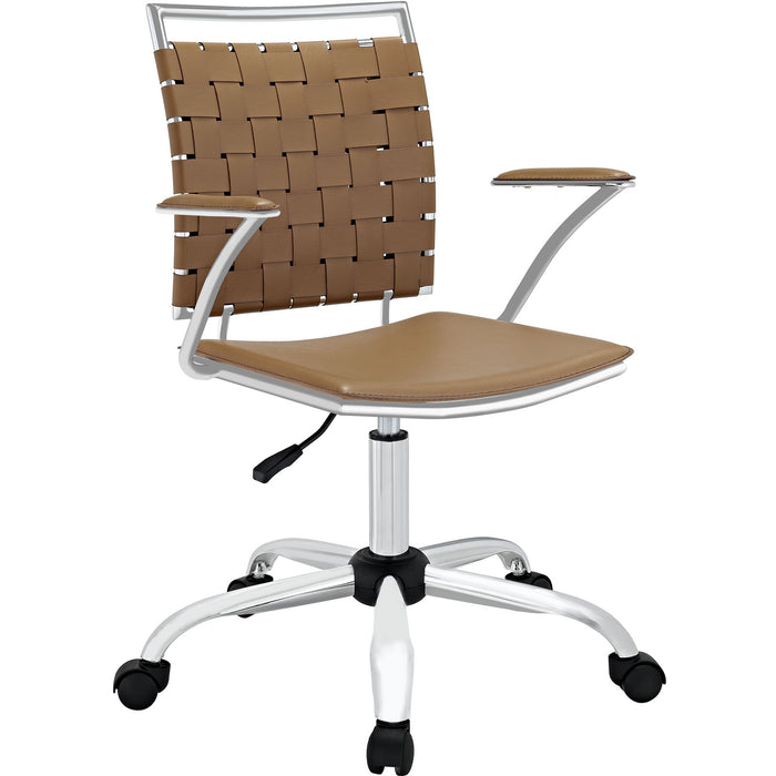 Fuse Office Chair in Tan by Modway