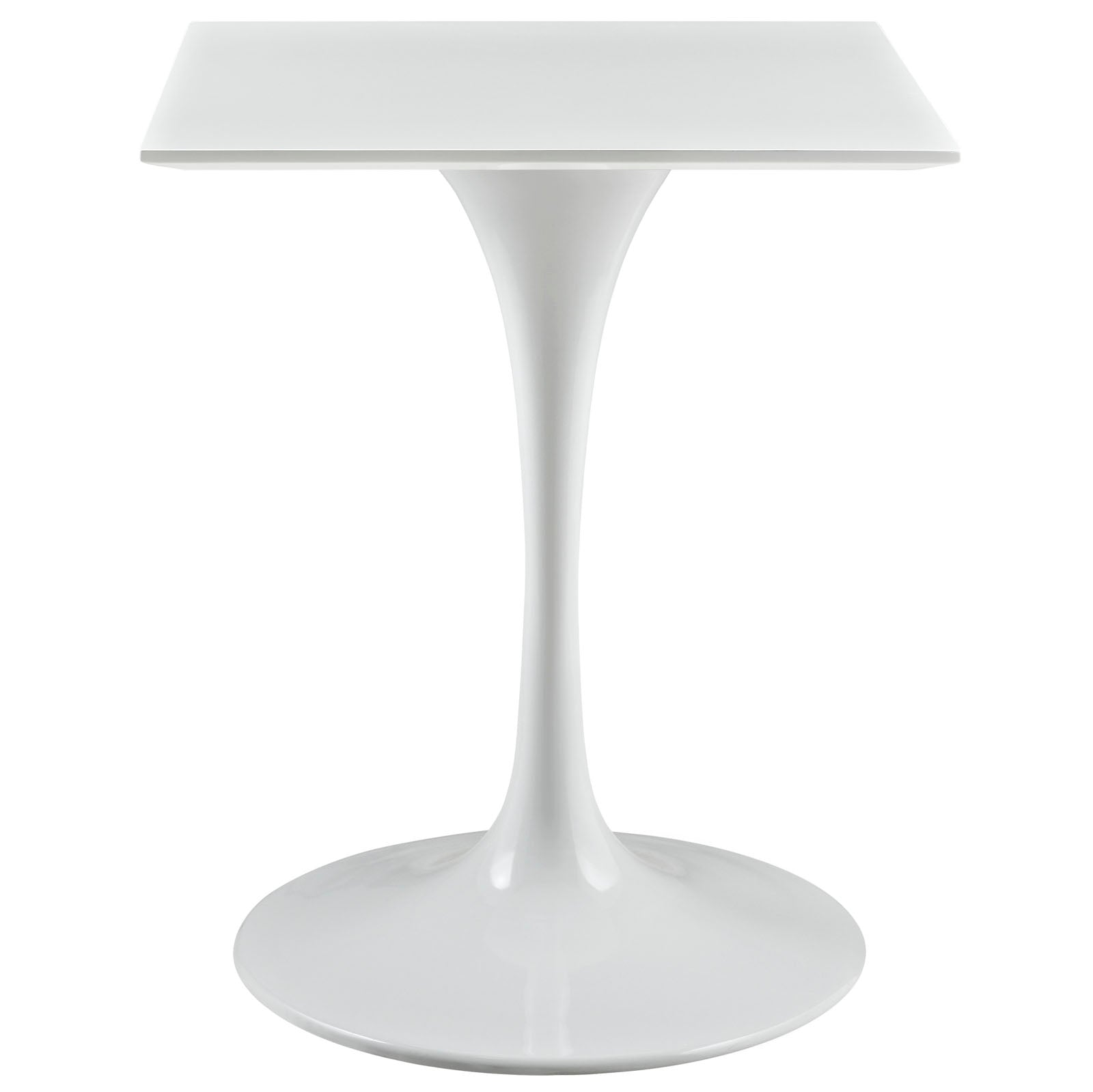 "Lippa 24"" Square Wood Top Dining Table in White by Modway"