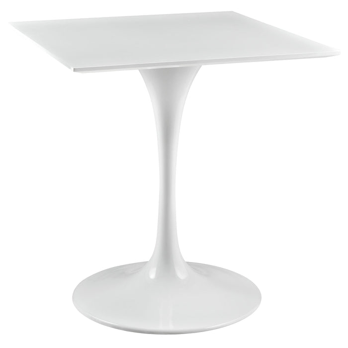 "Lippa 28"" Square Wood Top Dining Table in White by Modway"