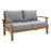 Marina Outdoor Patio Teak Loveseat in Natural Gray by Modway