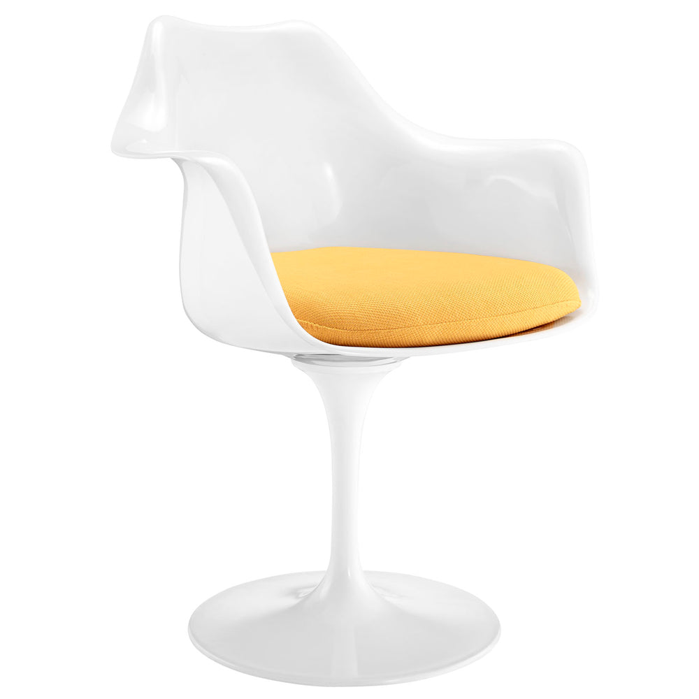 Lippa Dining Fabric Armchair in Yellow by Modway