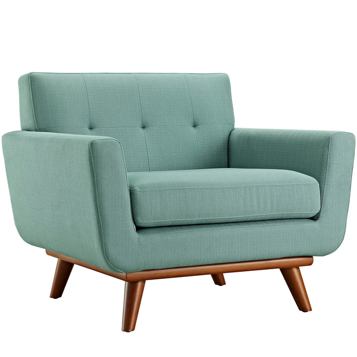 Engage Upholstered Fabric Armchair in Laguna by Modway