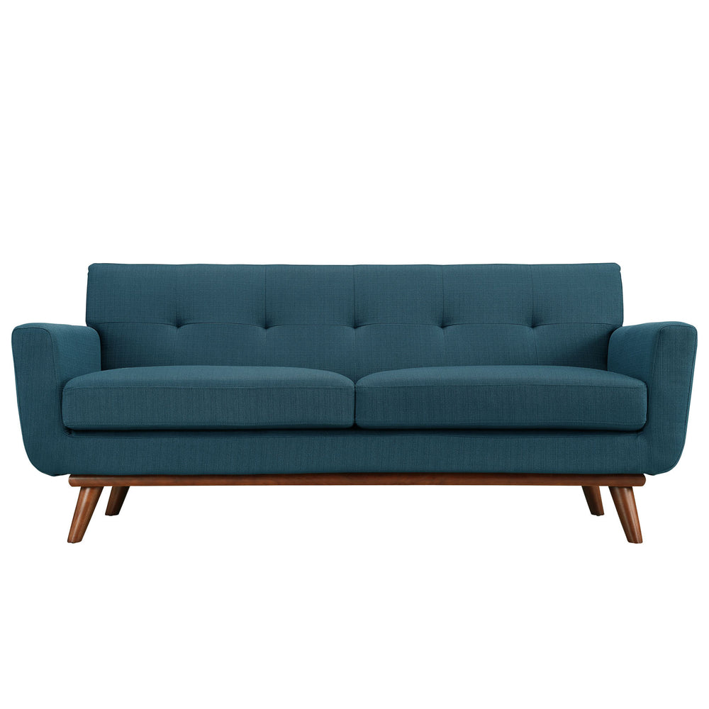 Engage Upholstered Fabric Loveseat in Azure by Modway