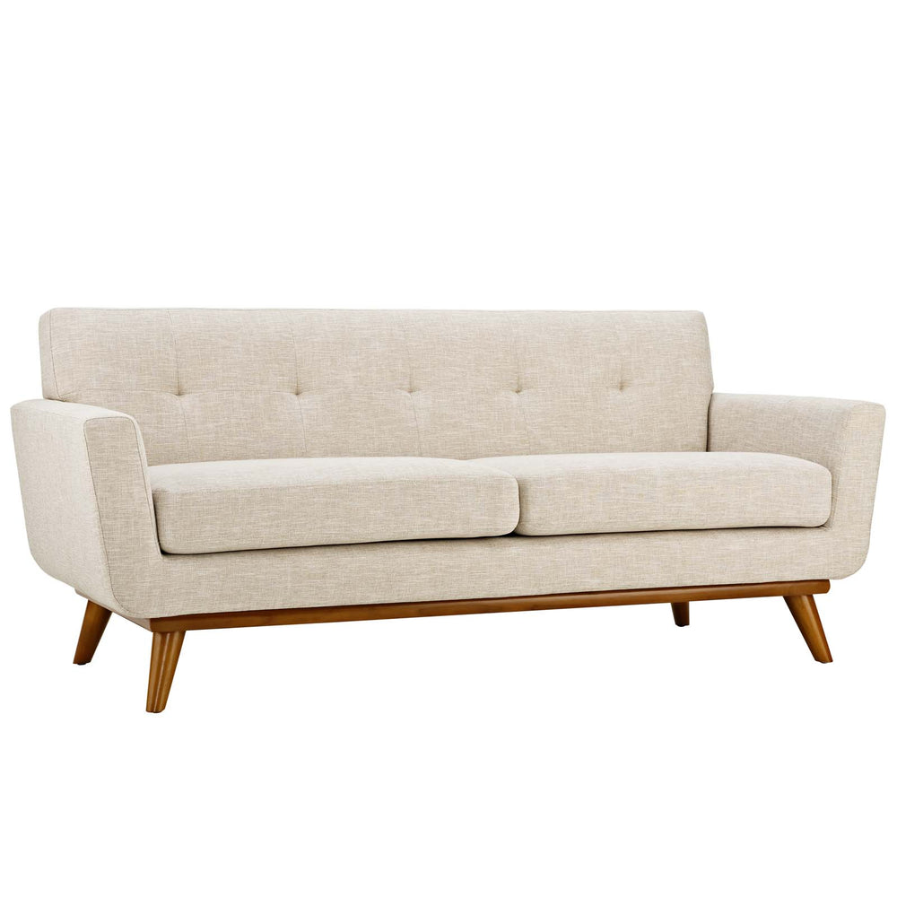 Engage Upholstered Fabric Loveseat in Beige by Modway