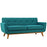 Engage Upholstered Fabric Loveseat in Teal by Modway