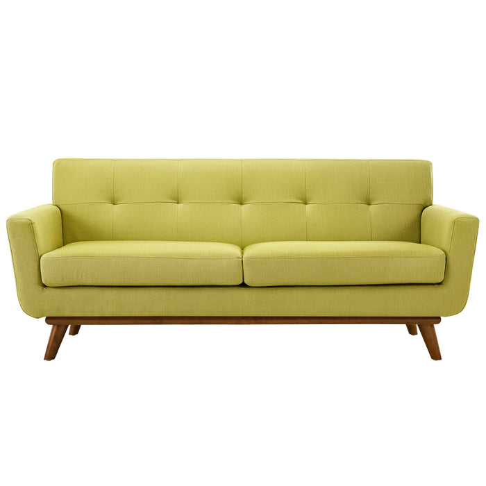 Engage Upholstered Fabric Loveseat in Wheatgrass by Modway