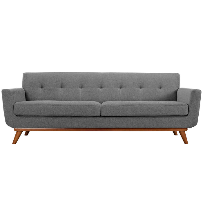 Engage Upholstered Fabric Sofa in Expectation Gray by Modway
