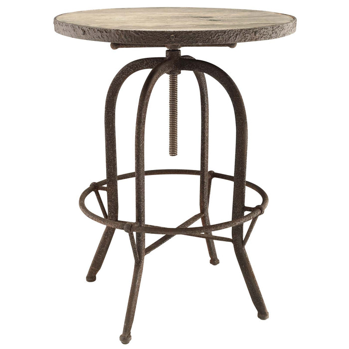Sylvan Wood Top Bar Table in Brown by Modway