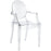 Casper Dining Armchair in Clear by Modway