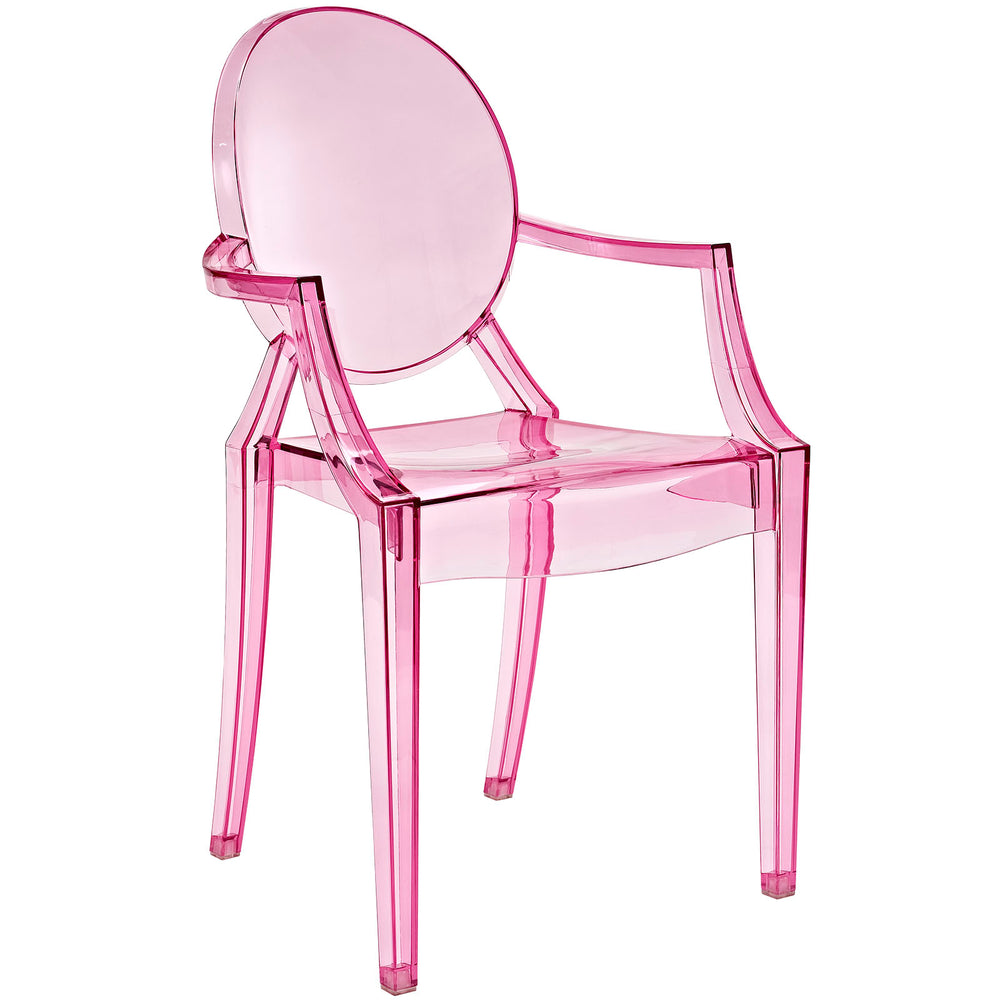 Casper Dining Armchair in Pink by Modway