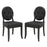 Button Dining Side Chair Set of 2 in Black by Modway