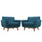 Engage Armchair Wood Set of 2 in Azure by Modway