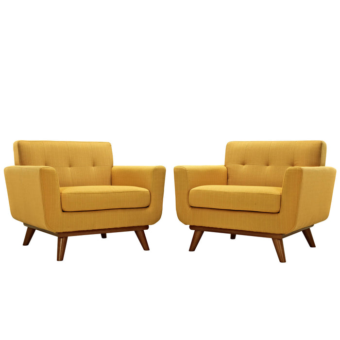 Engage Armchair Wood Set of 2 in Citrus by Modway