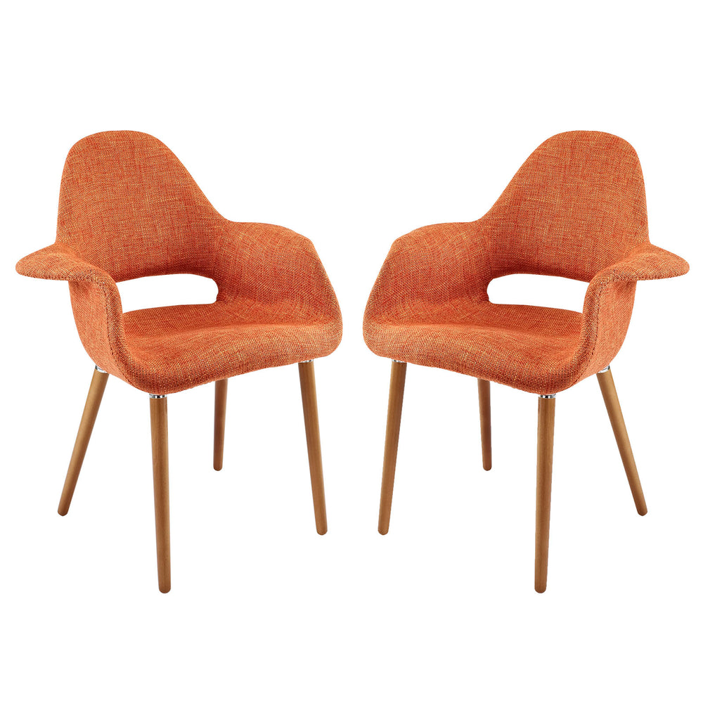 Aegis Dining Armchair Set of 2 in Orange by Modway