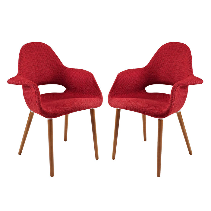 Aegis Dining Armchair Set of 2 in Red by Modway