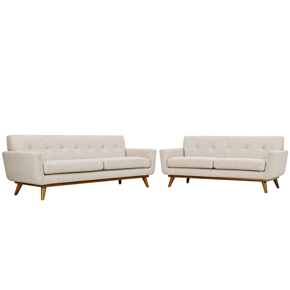 Engage Loveseat and Sofa Set of 2 in Beige by Modway