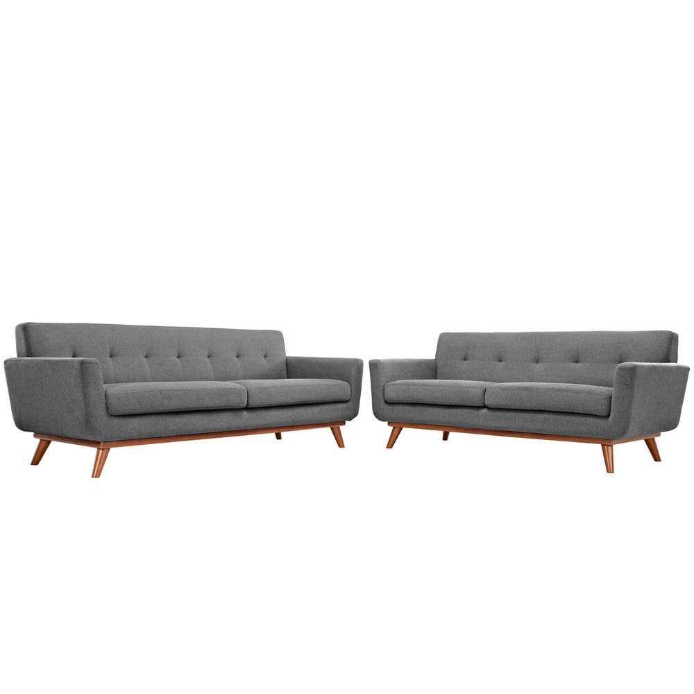 Engage Loveseat and Sofa Set of 2 in Expectation Gray by Modway