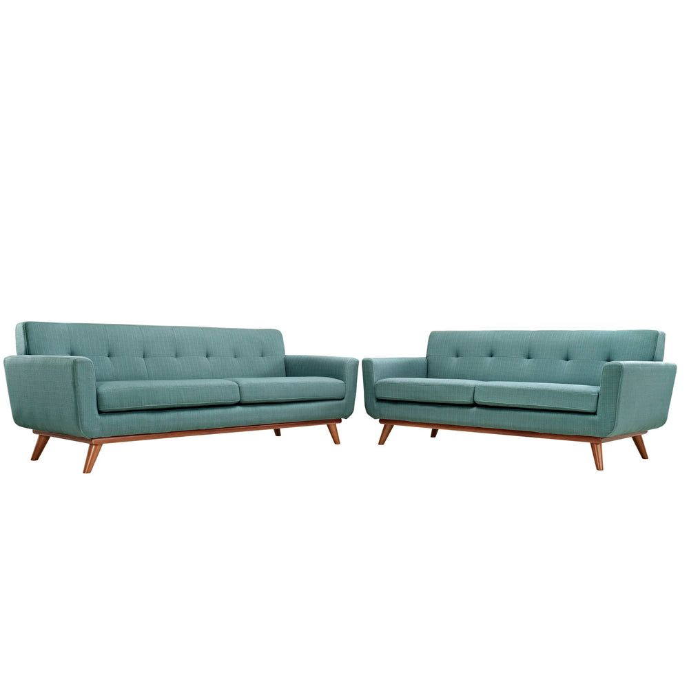 Engage Loveseat and Sofa Set of 2 in Laguna by Modway