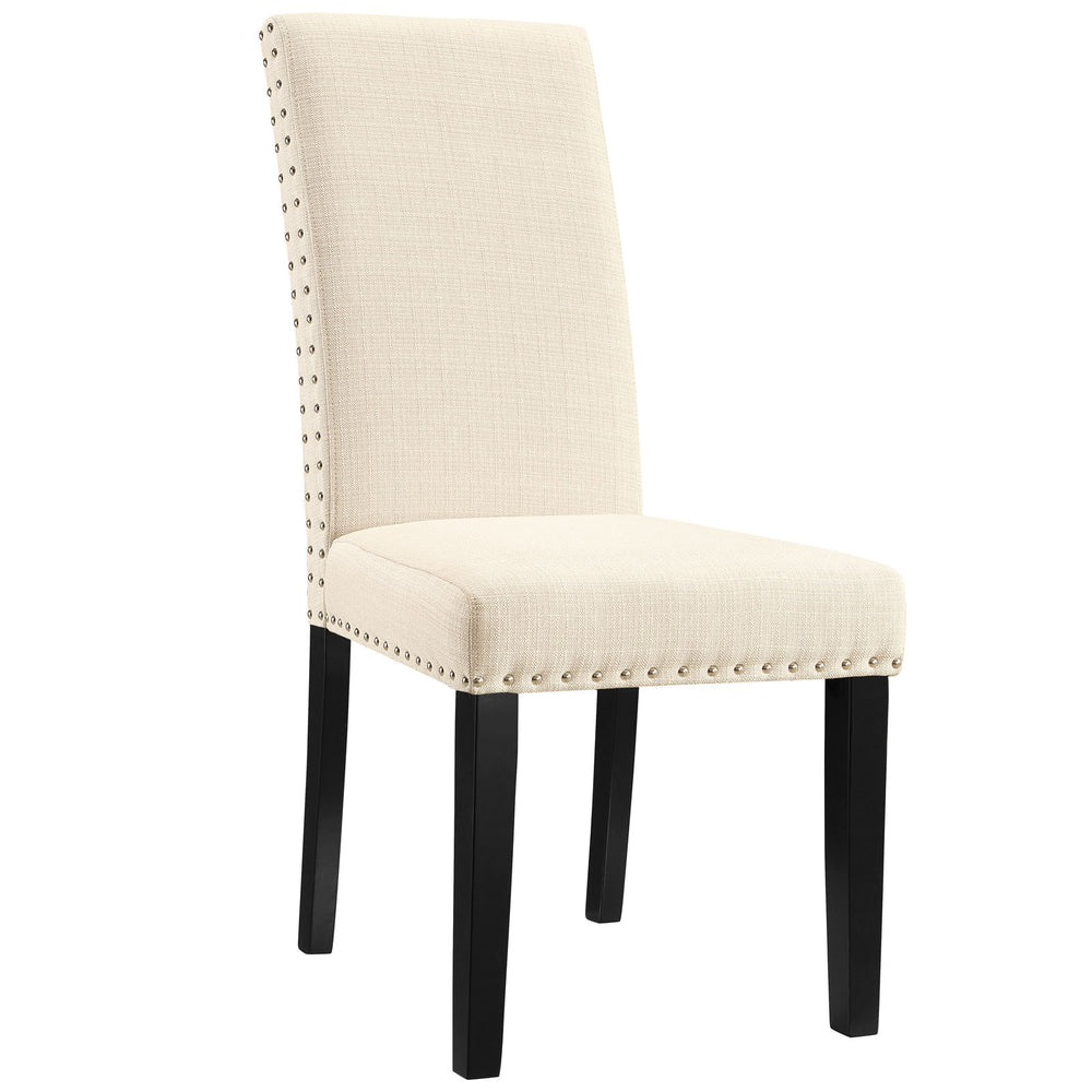 Parcel Dining Fabric Side Chair in Beige by Modway