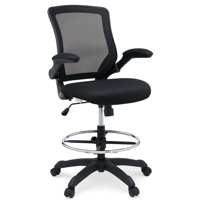 Veer Drafting Chair in Black by Modway